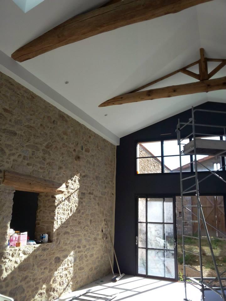 transformation d 39 une grange en habitation inso marie chappat architecte cholet. Black Bedroom Furniture Sets. Home Design Ideas