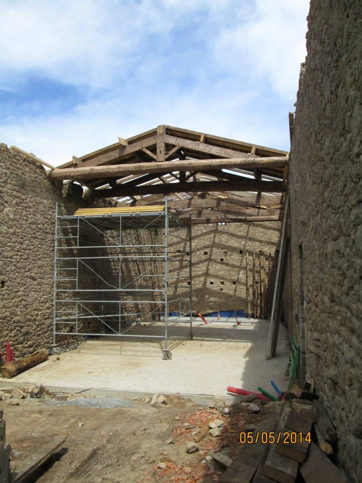 transformation d 39 une grange en habitation inso marie. Black Bedroom Furniture Sets. Home Design Ideas