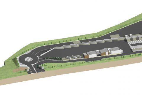 construction d'une déchetterie Eriboire - vue aérienne