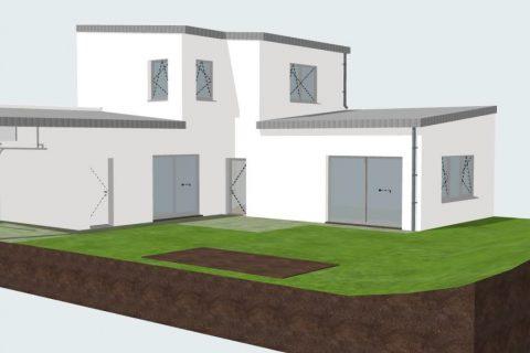 Construction d'une maison passive biosourcée et bas carbone