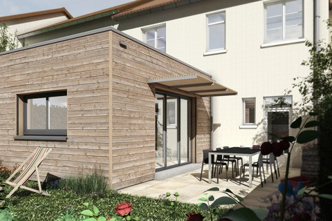 Construction d'une extension en bois
