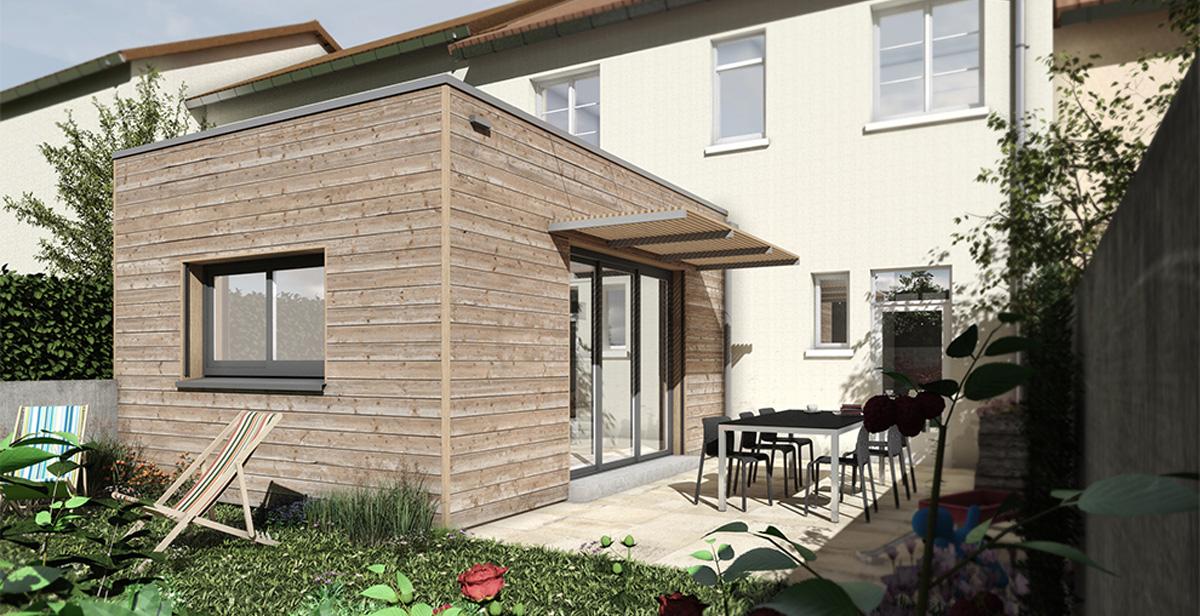 construction d'une extensionen bois