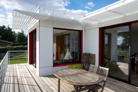 Construction d'une maison passive - terrasse - photo FVW
