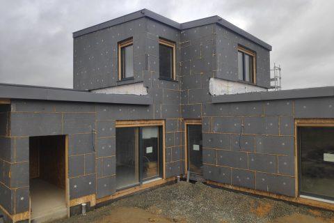 maison passive ossature bois bardage ITE